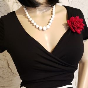 Gilli Dresses - Black & White Dress, necklace and pin